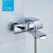 Popular sanitary ware wall mounted brass water tap chrome bath shower faucet